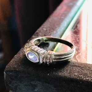 Antique Sterling Silver Ring w/ Amethyst